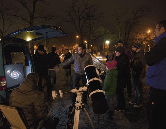 """""""Sidewalk-Astronomie"""" Aktionen"""